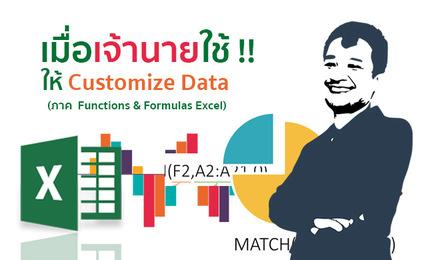 เมื่อเจ้านายใช้...ให้ Customize Data (ภาค Functions & Formulas Excel)