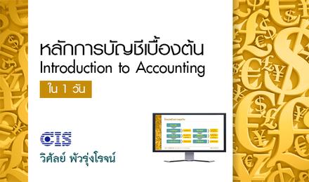 หลักการบัญชีเบื้องต้น ใน 1 วัน (Introduction to Accounting)