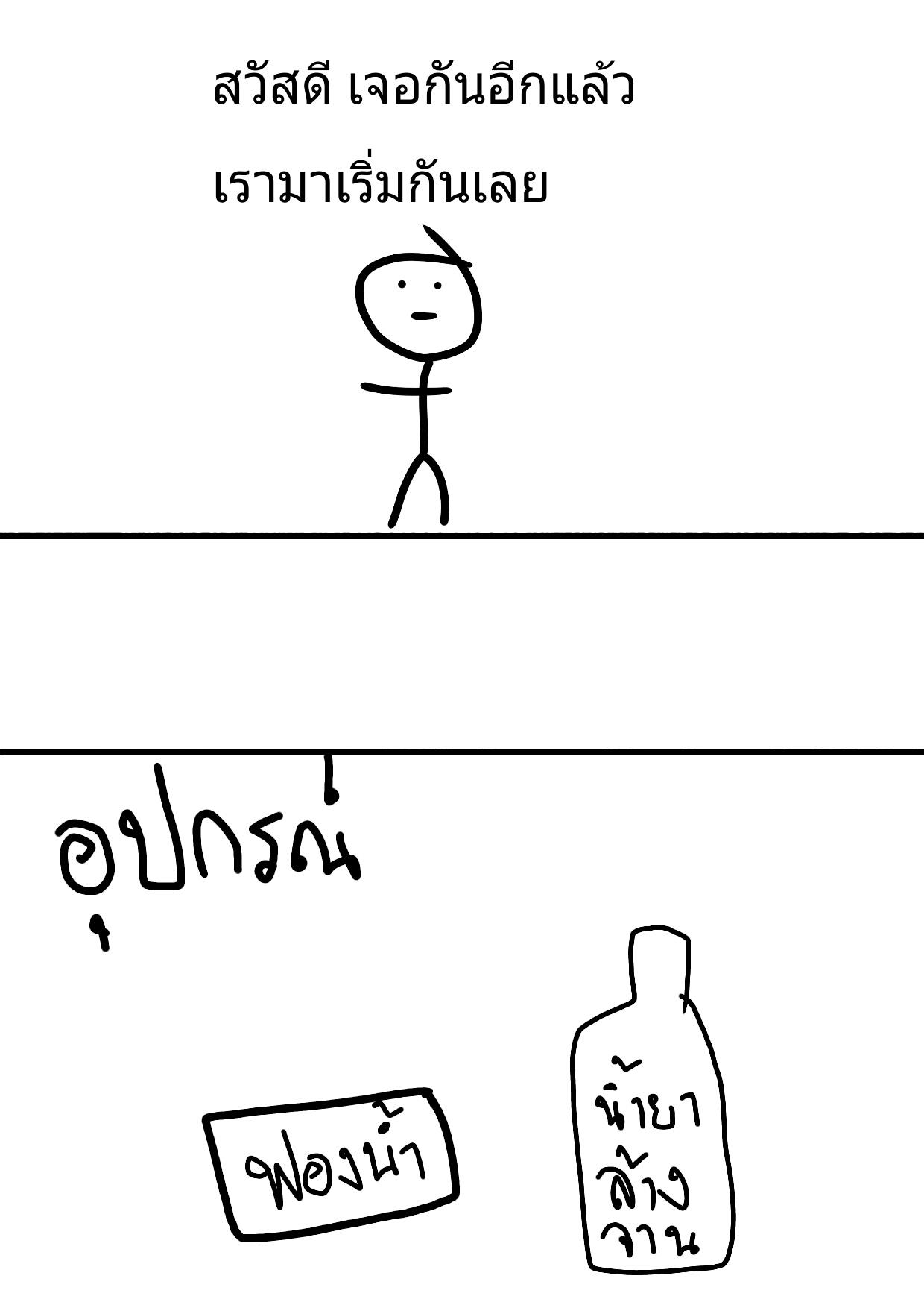 ตอนที่1 - วิธีล้างจาน