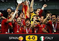 ประมวลภาพ สเปนคว้าแชมป์ยูโร2012