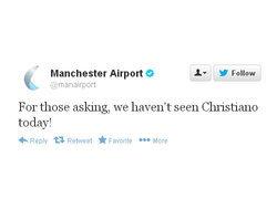 สนามบินทวีตโต้ โรนัลโดไม่มาแมนเชสเตอร์