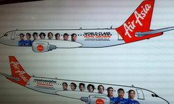 แอร์เอเชีย เปิดตัวเครื่องบินต้นแบบ เพนท์รูปนักวอลเลย์บอลสาวไทย