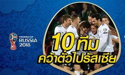 """ได้แล้ว """"10 ทีม"""" ตีตั๋วลุยฟุตบอลโลก 2018 รอบสุดท้าย ที่รัสเซีย"""