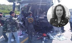 """สลด! รถบัสนักกรีฑาไทย ประสานงารถพ่วง """"โค้ชอุ้ย"""" อดีตทีมชาติเสียชีวิต"""