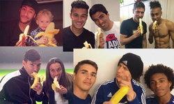 """มีกล้วยมั้ย? นักฟุตบอลแห่โพสต์รูป """"กินกล้วย"""" ให้กำลังใจ """"อัลเวส"""""""
