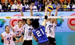 """สุดเสียดาย! """"สาวไทย"""" ขึ้นนำ 2-0 ก่อนโดน """"ญี่ปุ่น"""" แซงคว้าชัย 3-2"""