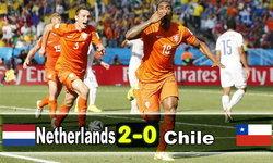 อัศวินเฮ! ฮอลแลนด์เชือดชิลี2-0รั้งแชมป์กลุ่มบี