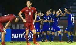"""""""เอกนิษฐ์"""" ซัดทดเจ็บ! ทีมชาติไทย ชุดปรีโอลิมปิก เฉือน ฮ่องกง  1-0"""