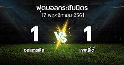 ผลบอล : ออสเตรเลีย vs เกาหลีใต้ (ฟุตบอลกระชับมิตร)