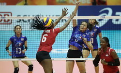 """ซิวชัยเกมที่สอง! """"นักตบสาวไทย"""" ตบ ตรินิแดดฯ 3-1 ลูกยางชิงแชมป์โลก"""