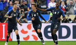 """ไก่ตีปีก ! """"กรีซมันน์"""" เหมา 2 พลิกแซงอัด เยอรมนี 2-1"""