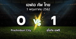 ผลบอล : Prachinburi City vs สุโขทัย เอฟซี (ไทยเอฟเอคัพ 2019)