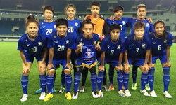 แข้งสาวไทยอุ่นเครื่องส่งท้ายเสมอจีน 2-2