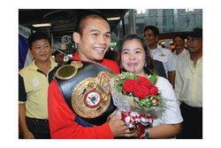 พูนสวัสดิ์ หิ้วเข็มขัดแชมป์ถึงไทยแล้ว