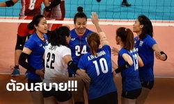 """เปิดฉากซีเกมส์! """"นักตบสาวไทย"""" ฟอร์มสวยไล่ตบ อินโดนีเซีย 3-0"""