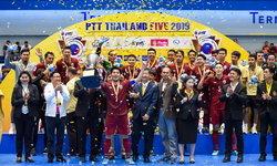 ชูถ้วยอีกสมัย! โต๊ะเล็กไทย อัด เวียดนาม 3-1 ซิวแชมป์ฟุตซอลพีทีทีไฟว์ 2019