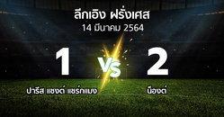 ผลบอล : เปแอสเช vs น็องต์ (ลีกเอิง 2020-2021)