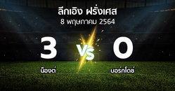 ผลบอล : น็องต์ vs บอร์กโดซ์ (ลีกเอิง 2020-2021)