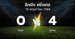 ผลบอล : ดิฌง vs น็องต์ (ลีกเอิง 2020-2021)