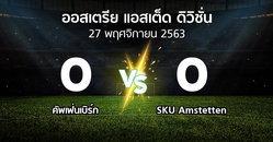 ผลบอล : คัพเฟ่นเบิร์ก vs SKU Amstetten (ออสเตรีย-แอสเต็ด-ดิวิชั่น 2020-2021)