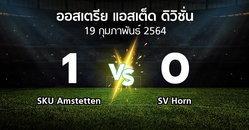 ผลบอล : SKU Amstetten vs SV Horn (ออสเตรีย-แอสเต็ด-ดิวิชั่น 2020-2021)