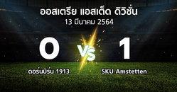 ผลบอล : ดอร์นบิร์น 1913 vs SKU Amstetten (ออสเตรีย-แอสเต็ด-ดิวิชั่น 2020-2021)