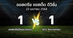ผลบอล : ออสเตรียเวียนนา(Am) vs SKU Amstetten (ออสเตรีย-แอสเต็ด-ดิวิชั่น 2020-2021)