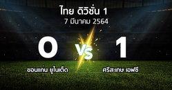 ผลบอล : ขอนแก่น ยูไนเต็ด vs ศรีสะเกษ เอฟซี (ดิวิชั่น 1 2020-2021)