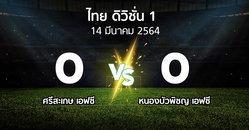 ผลบอล : ศรีสะเกษ เอฟซี vs หนองบัวพิชญ เอฟซี (ดิวิชั่น 1 2020-2021)