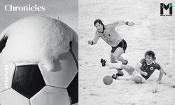 """""""-20 องศา"""" : 1963.. ปีที่ฟุตบอลอังกฤษต้องเล่นบนสนามพื้นน้ำแข็ง"""
