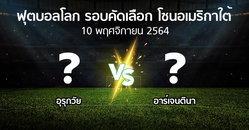 โปรแกรมบอล : อุรุกวัย vs อาร์เจนตินา (ฟุตบอลโลก-รอบคัดเลือก-โซนอเมริกาใต้ 2020-2022)