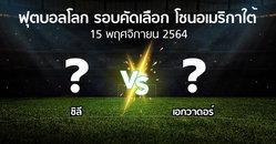 โปรแกรมบอล : ชิลี vs เอกวาดอร์ (ฟุตบอลโลก-รอบคัดเลือก-โซนอเมริกาใต้ 2020-2022)