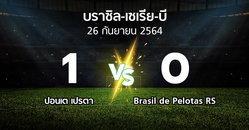 ผลบอล : ปอนเต เปรตา vs Brasil de Pelotas RS (บราซิล-เซเรีย-บี 2021)