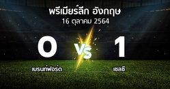 ผลบอล : เบรนท์ฟอร์ด vs เชลซี (พรีเมียร์ลีก 2021-2022)