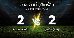 ผลบอล : เดอ กราฟสคัป vs อูเทร็คท์(Am) (ฮอลแลนด์-จูปิแลร์ลีก 2021-2022)