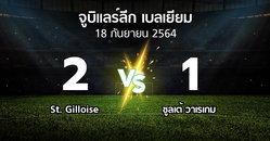 ผลบอล : St. Gilloise vs ซูลเต้ วาเรเกม (จูบิแลร์ลีก เบลเยียม 2021-2022)