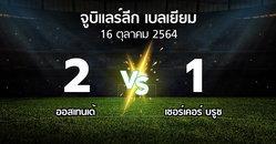 ผลบอล : ออสเทนเด้ vs เซอร์เคอร์ บรูซ (จูบิแลร์ลีก เบลเยียม 2021-2022)