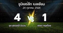 ผลบอล : อุด-เฺฮเวอร์ลี ลิวเวน vs แซงต์ ทรุยด็อง (จูบิแลร์ลีก เบลเยียม 2021-2022)