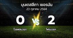 ผลบอล : โวล์ฟสบวร์ก vs ไฟร์บวร์ก (บุนเดสลีกา 2021-2022)
