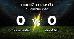 ผลบอล : อาร์มีเนีย บีเลเฟลด์ vs ฮอฟเฟ่นไฮม์ (บุนเดสลีกา 2021-2022)