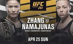 """UFC บุกจีน ระเบิดศึก """"จาง เหว่ยลี่"""" ป้องเข็มขัด """"นามาญูนาส"""" 25 เม.ย.นี้"""