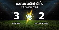ผลบอล : ซานด์เนส vs อาซาเน่ ฟุตบอล (นอร์เวย์-อเด็กโคลิเก้น 2021)