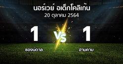 ผลบอล : ซองน์ดาล vs ฮามคาม (นอร์เวย์-อเด็กโคลิเก้น 2021)