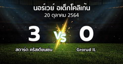 ผลบอล : สตาร์ต คริสเตียนเซ่น vs Grorud IL (นอร์เวย์-อเด็กโคลิเก้น 2021)