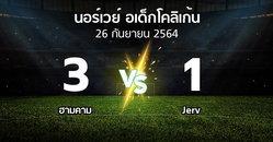 ผลบอล : ฮามคาม vs Jerv (นอร์เวย์-อเด็กโคลิเก้น 2021)