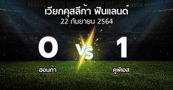 ผลบอล : ฮอนก้า vs คูพีเอส (เวียกคุสลีก้า-ฟินแลนด์ 2021)