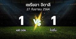 ผลบอล : เอซี เวนิช vs โตริโน่ (เซเรีย อา 2021-2022)