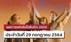สรุปผลการแข่งขันกีฬาโอลิมปิก 2020 ประจำวันที่ 29 กรกฎาคม 2564