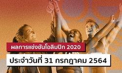 สรุปผลการแข่งขันกีฬาโอลิมปิก 2020 ประจำวันที่ 31 กรกฎาคม 2564
