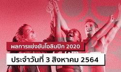 สรุปผลการแข่งขันกีฬาโอลิมปิก 2020 ประจำวันที่ 3 สิงหาคม 2564